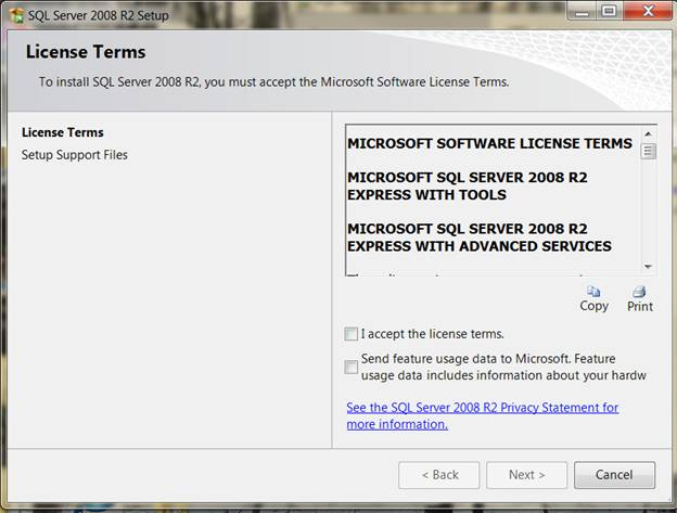 SQL System requirements 21